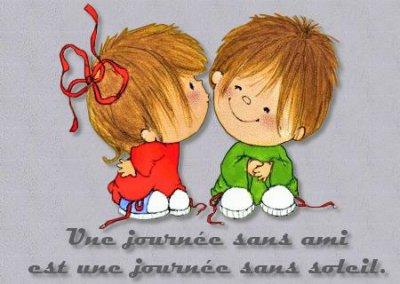 L'amitié c'est notre histoire, notre reflet dans le miroir.