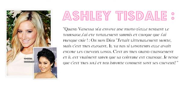 Le 22/07/2011.Vanessa aurait poster une photo sur facebook des coulisses de l'avant première de Beastly. + Ashley Tisdale aurait donner son avis,dans une interview, à propos de sa nouvelle Coiffure.+Nessa a été vu à Venise avec des amies.