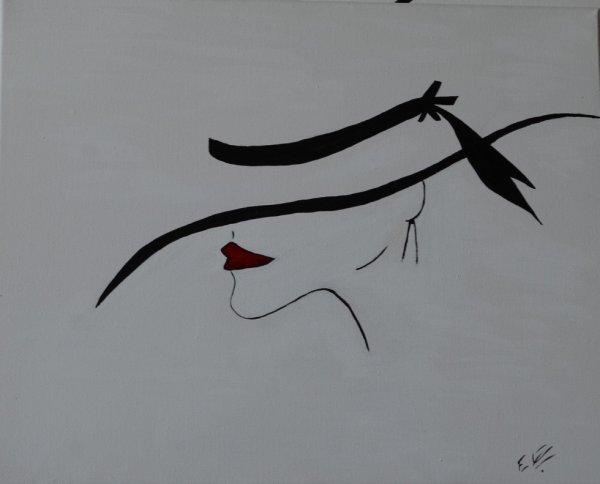 Femme Chapeau Profil Apprendre Le Dessin