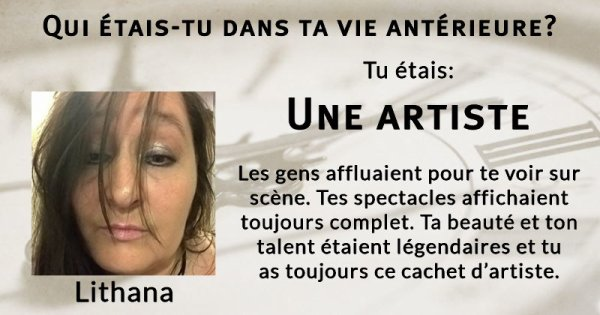 Une artiste ...
