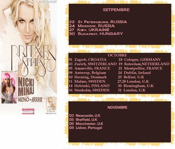FEMME FATAL TOUR EN EUROPE (les dates)