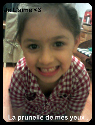 La petite Soeeur ...   <3  Joheina ... <3
