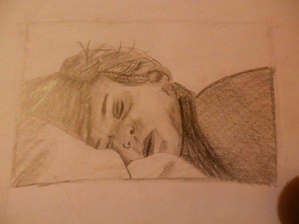 un enfant qui dort .