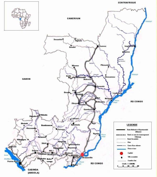 Carte actuelle du Reseau routier Congolais   Blog de Idrisca