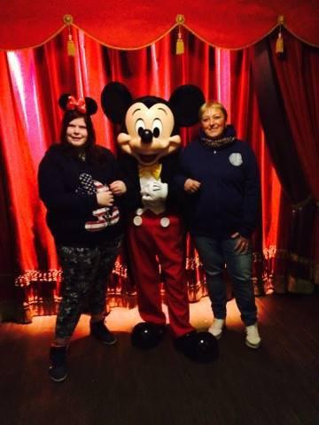 moi et maman et mickey hihih