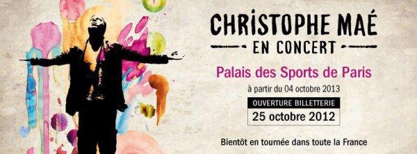Christophe Maé : Une tournée en 2013 ! :)