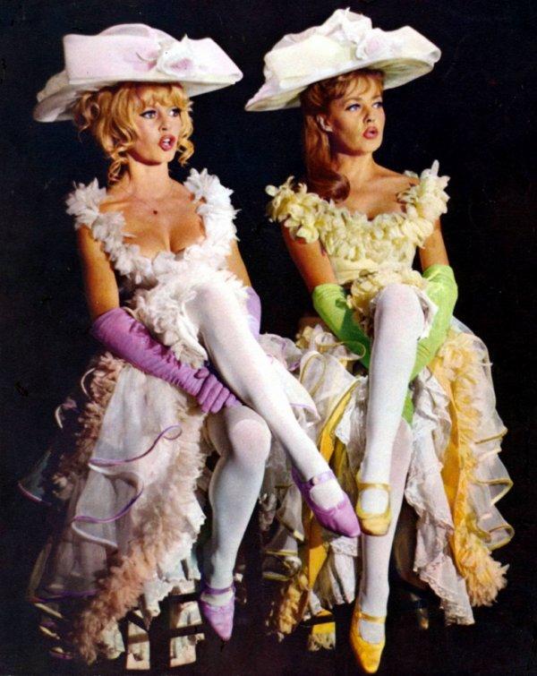 Jeanne Moreau et Birigitte Bardot dans viva Maria