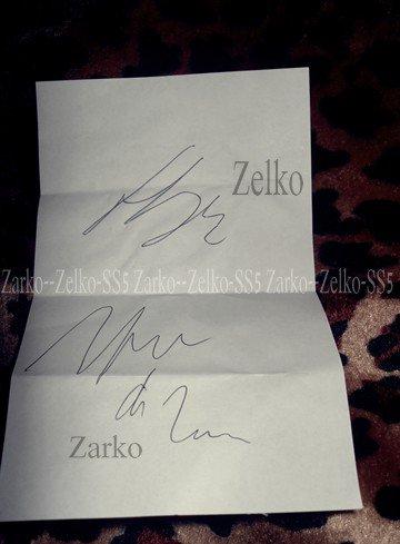 L'autographe <3 ..