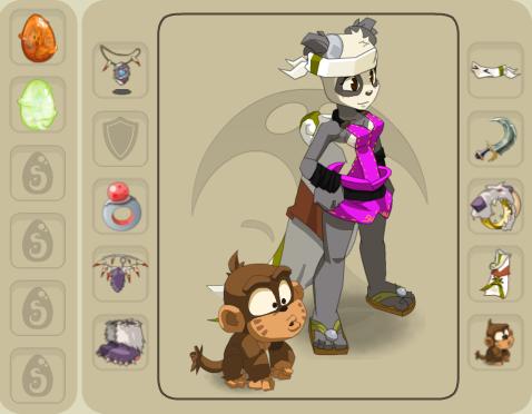Panoplie de ma Panda.