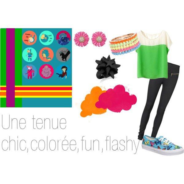 Tenue fun, flashy, colorée...