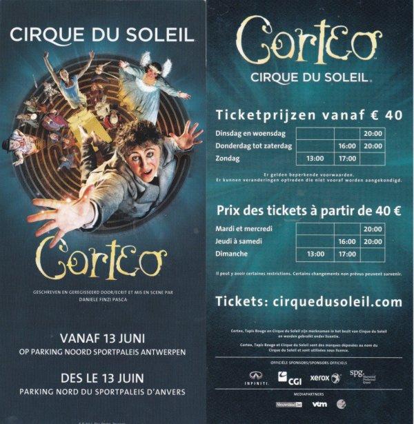 cirque du soleil corteo Anvers Belgique