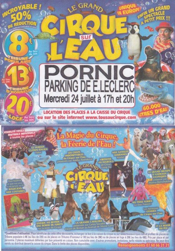 cirque sur l'eau Pornic 2013
