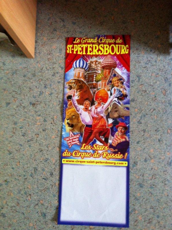 affiche du cirque de sant petersbourg 2012