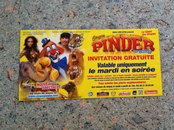 cirque Pinder 2013