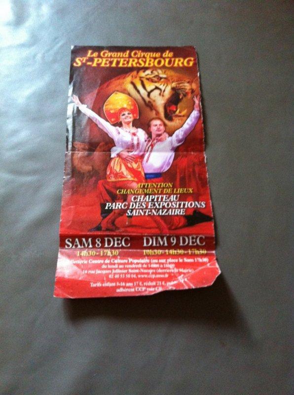 cirque de saint petersbourg 2012 saint Nazaire double
