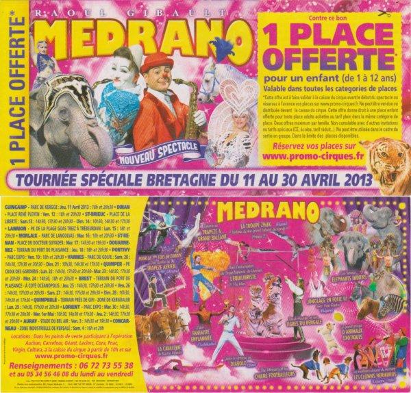 Cirque medrano tournée Bretagne 2013