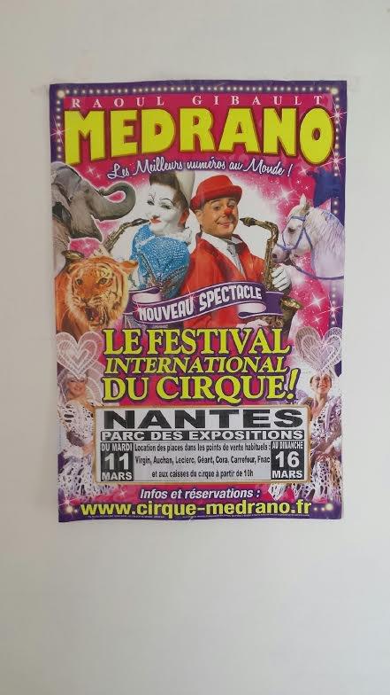 Affiche Cirque medrano 2014 Nantes