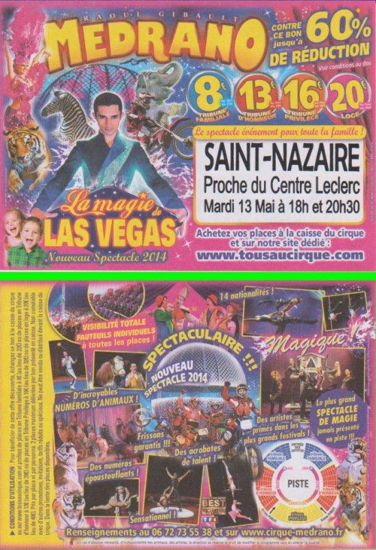 Cirque Medrano St Nazaire 2014