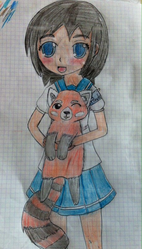 Un P'tit dessin <3 Siniabu and her Red Panda