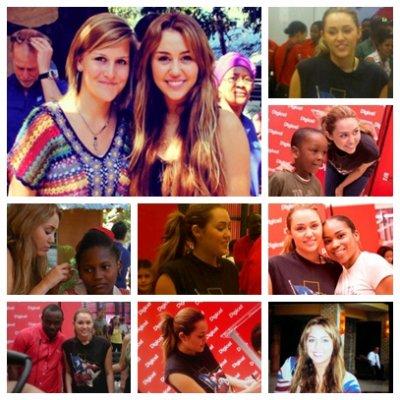 Miley Cyrus à Haiti !