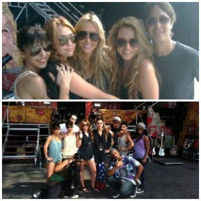 Samedi 30 Avril 2011 = Miley arrivant à Lima (Pérou).
