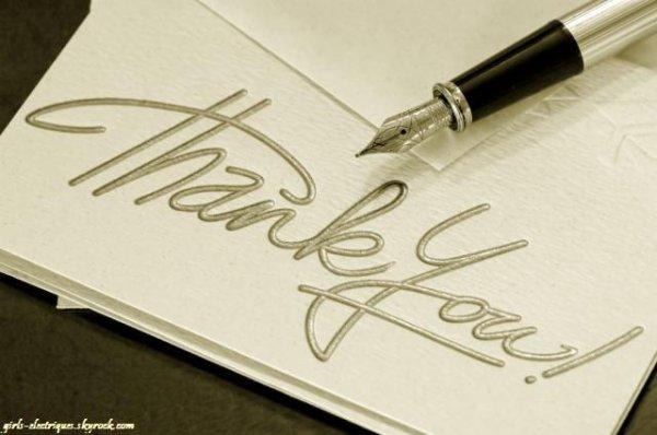 Remerciements !