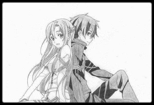 Asuna et Kirito - Sword Art Online