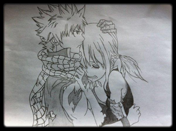Natsu et Lucy - Fairy Tail