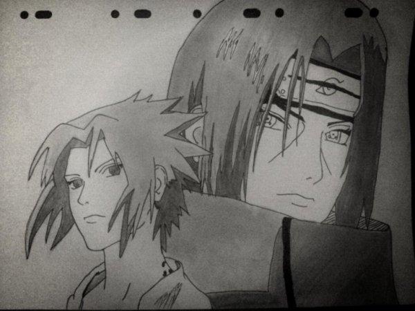 Itachi et Sasuke Uchiwa - Naruto Shippuden.