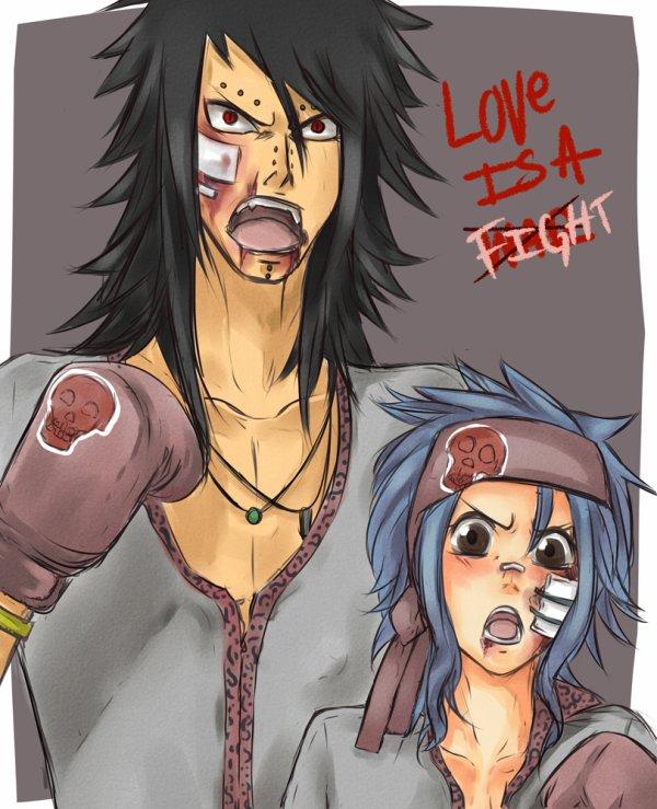 Love is fight levy x gajeel