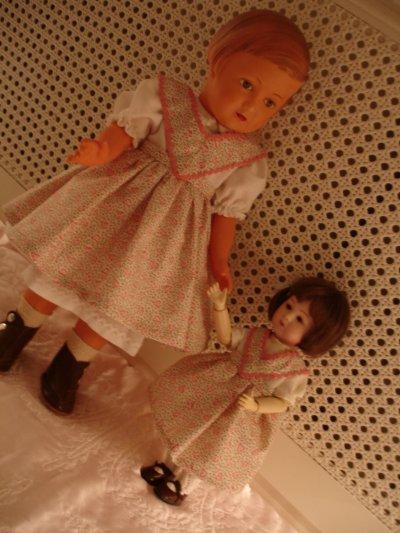 Les tabliers de Françoise et Loulotte...