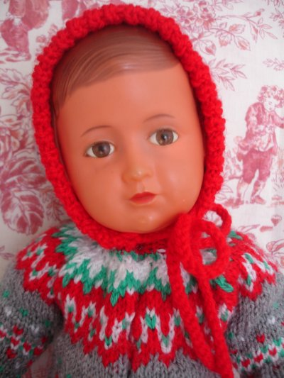 L'ensemble bien chaud au tricot de Jeanne...