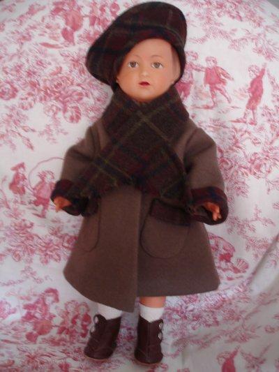 Le beau manteau douillet de Louise...