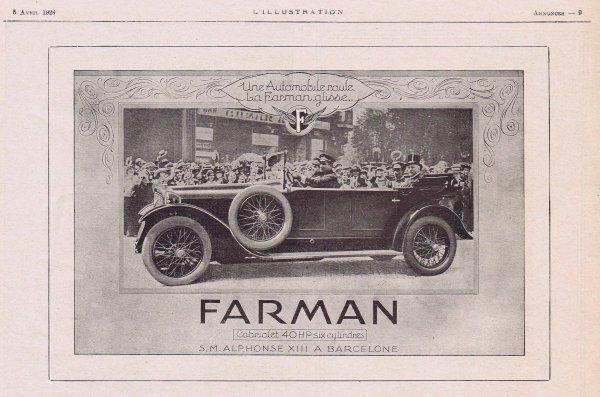 🚗  Automobile 🚗 Farman  🚗