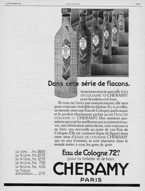 🌸 Cheramy ✿ Eau de Cologne 72° 🌸