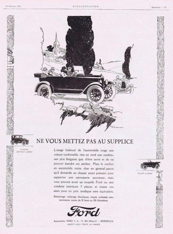 🚗  Automobile   🚗  Ford  🚗 Pubs de 1925 🚗