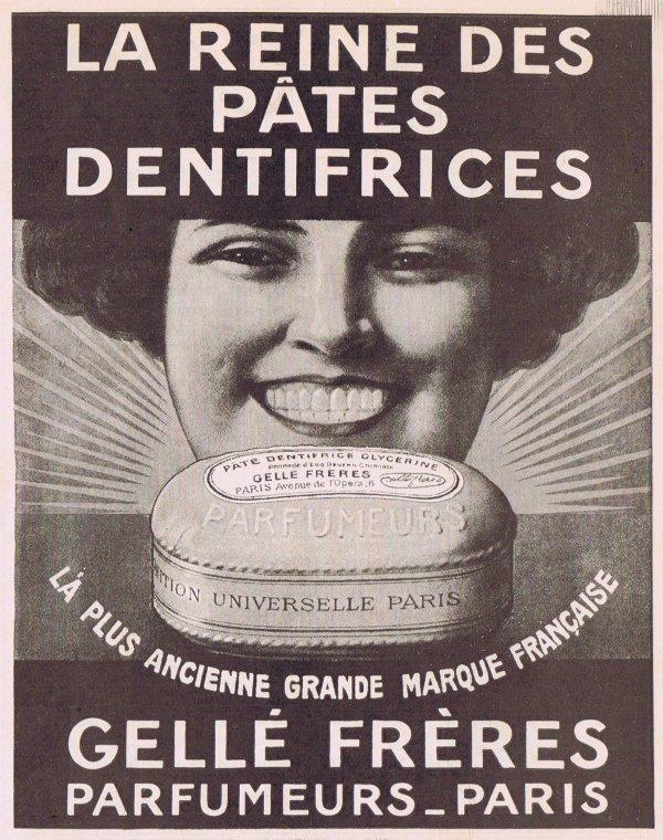 🌸 Gellé Frères  🦷  La Reine des pâtes dentifrices 🌸