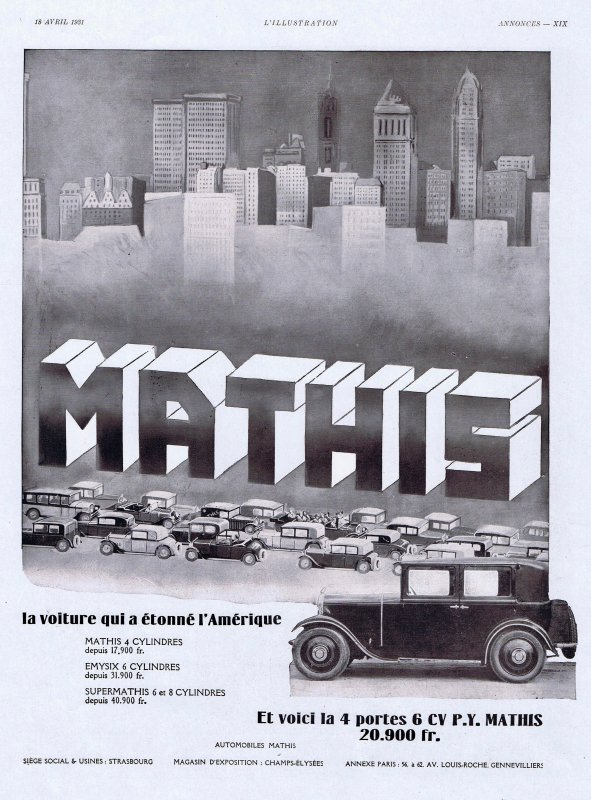 🚗 Automobile 🚗 Mathis  🚗