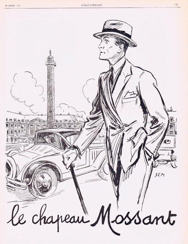 🎩 Mode Hommes 🎩 Accessoires  🎩 Le chapeau Mossant  🎩