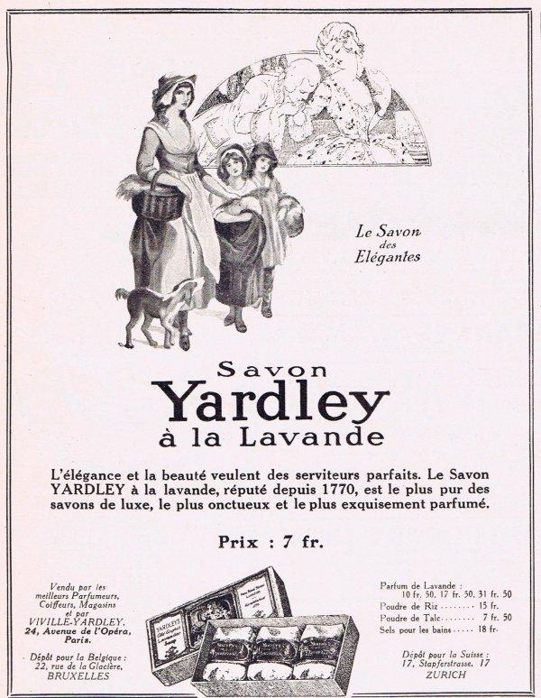 🌸 Yardley  🧼  Les savons à la lavande - pubs de 1926 🌸