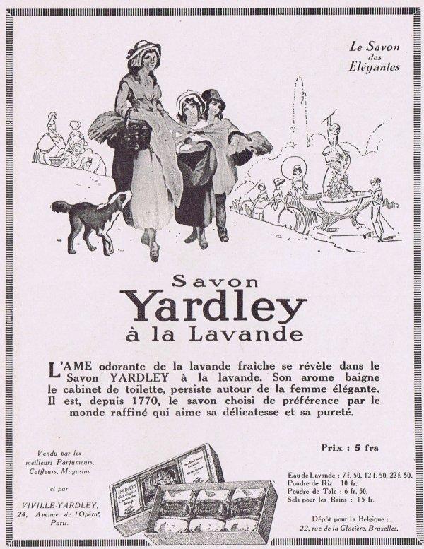 🌸 Yardley  🧼  Les savons à la lavande - pub de 1925 🌸