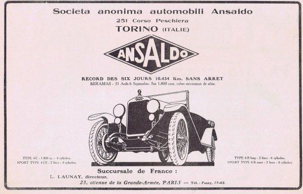🚗 Automobile  🚗  Ansaldo  🚗
