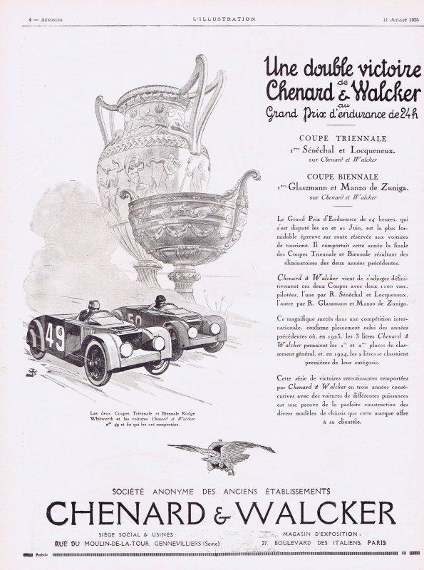 🚗 Automobile 🚗  Chenard & Walcker 🚗