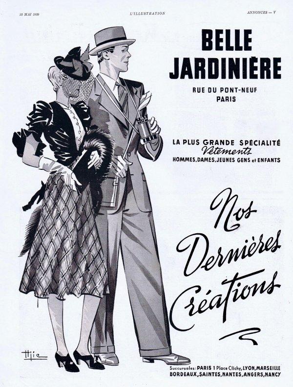 👔 👗Mode Dames & Messieurs  👔👗  Belle Jardinière   👔👗