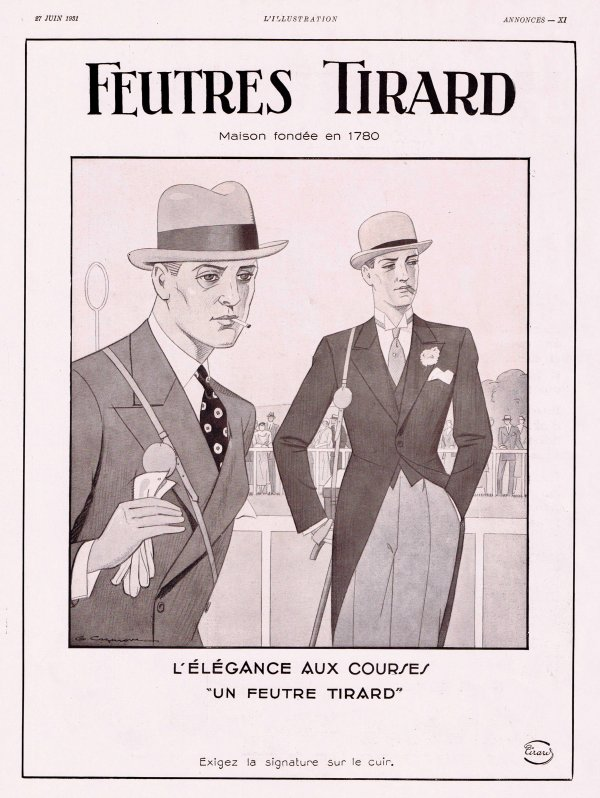 🎩 Mode Hommes 🎩 Accessoires  🎩  le chapeau Tirard   🎩