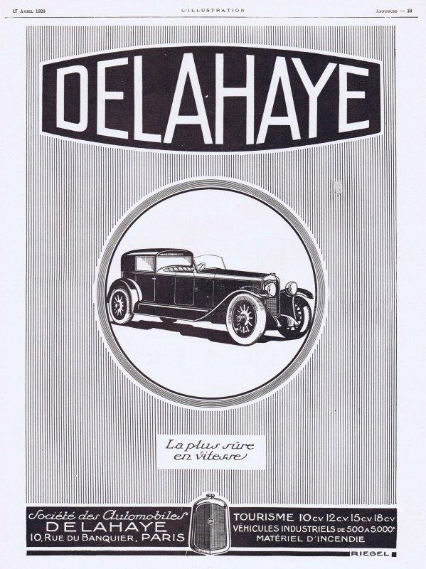 🚗 Automobile  🚗  Delahaye  🚗