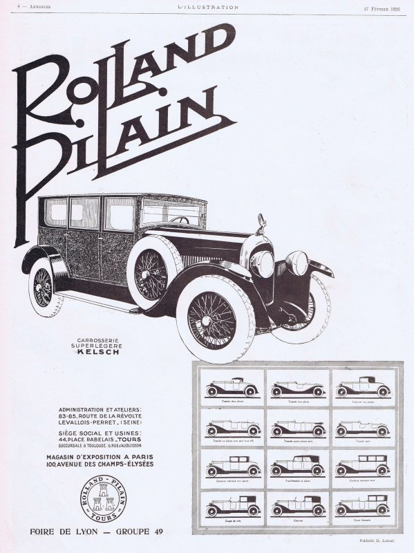 🚗  Automobile  🚗  Rolland Pilain  🚗