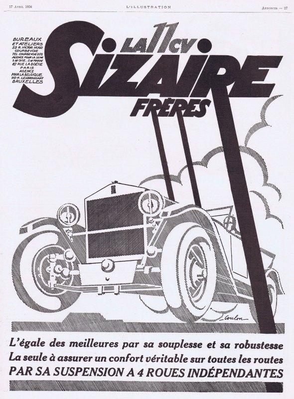 🚗  Automobile  🚗  Sizaire  🚗