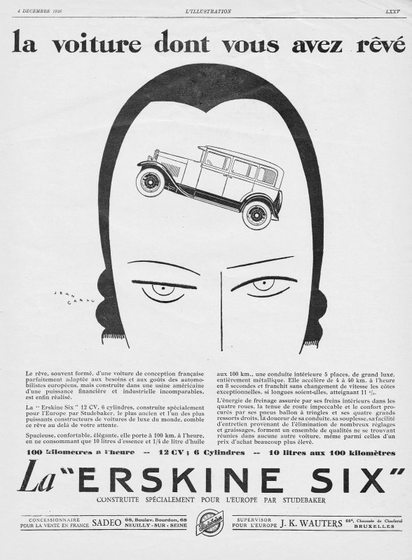 🚗 Automobile 🚗  Studebaker Erskine  🚗