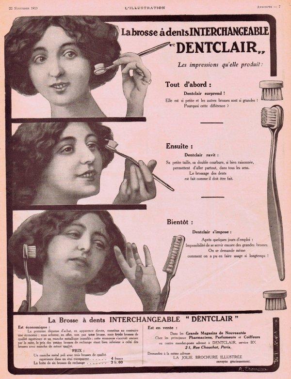 🦷 Dentifrice 🦷 La brosse à dents Dentclair 🦷